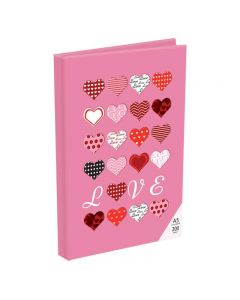 Panther A5 Diary Notebook Pink Hearts