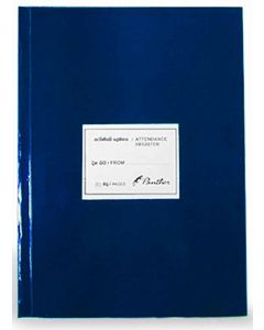 Panther Attendance Register 80 Pages Blue