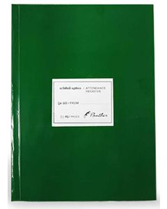 Panther Attendance Register 80 Pages Green