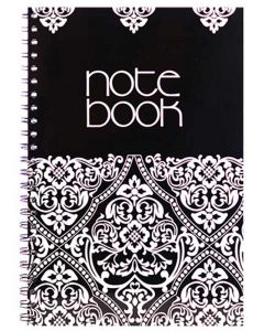 Panther Side Spiral Binding 100 Ruled Page Notebook A4 Liyawela