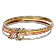 Gold Platinum Silver Color Bangles and Rings Bracelet