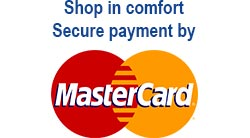 Shop in comfort secure payment by master card